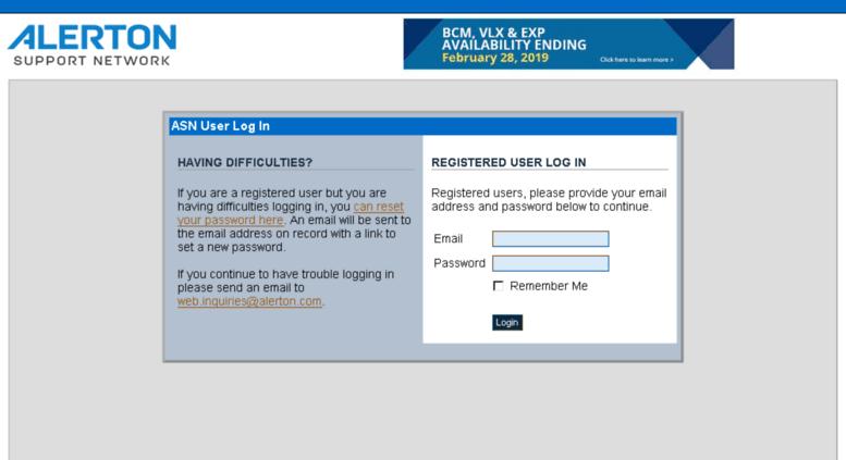 Access asn alerton com  Alerton Support Network