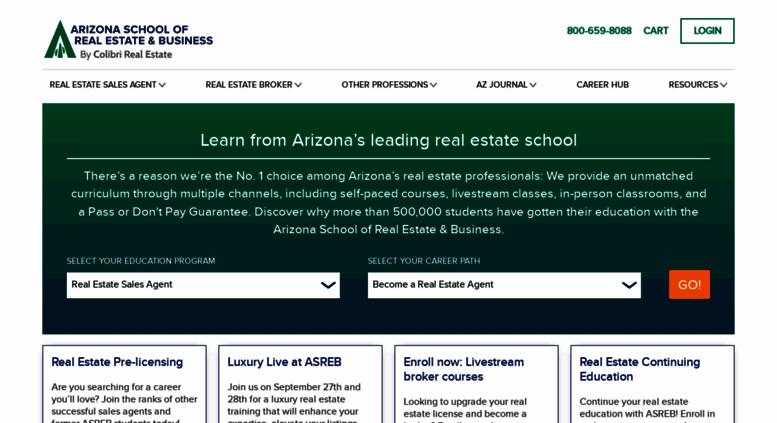 Access Asrebcom Arizona School Of Real Estate Business