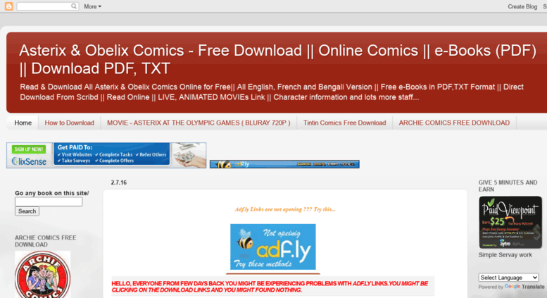 Access asterixcomicsfreedownload blogspot in  Asterix & Obelix