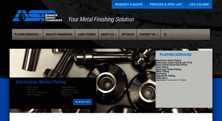 Access astfinishing com  Advanced Surface Technologies