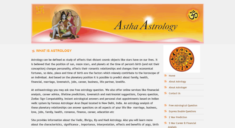 Access asthaastrology com  Free Astrology Question