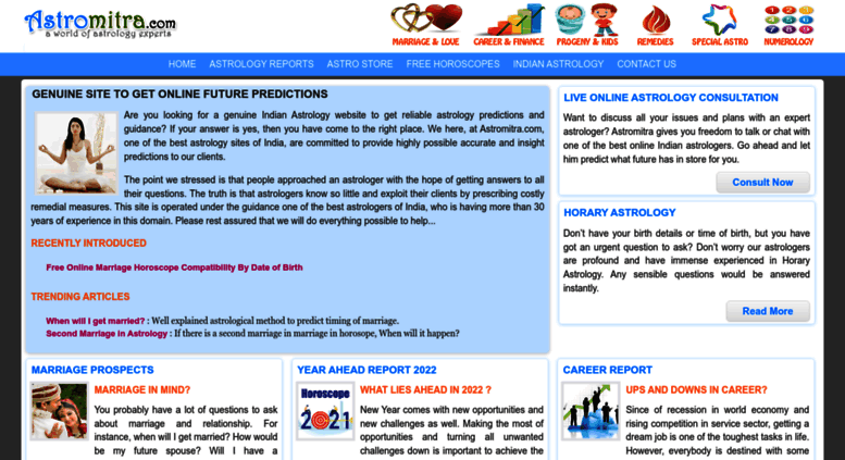 Access astromitra com  Genuine Indian Astrology Website