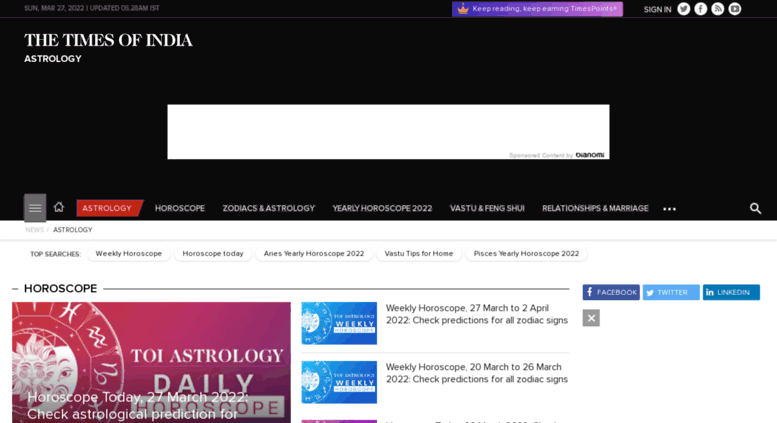 daily astrology times of india