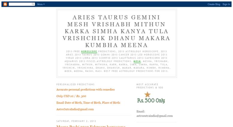 Access astrosutra blogspot com  Aries Taurus Gemini Mesh