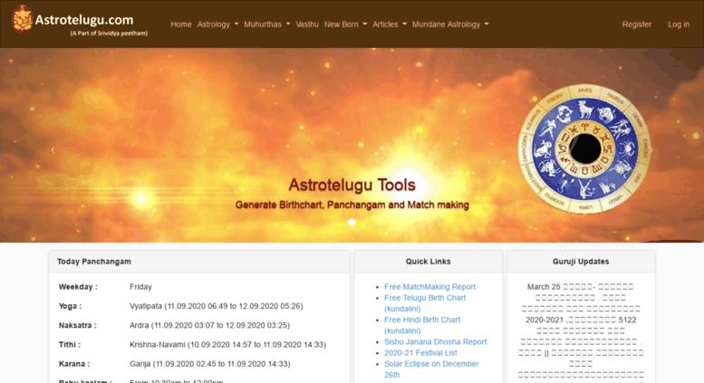 Telugu astrologi för match making
