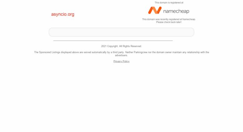 Access asyncio org  Asyncio