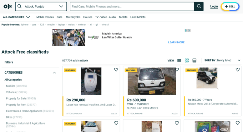 Access attock olx com pk  OLX - Buy and Sell for free