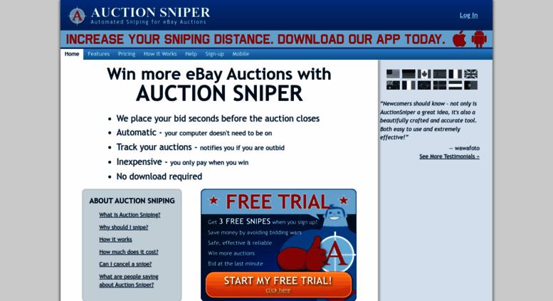 Ebay Bid Sniper >> Access Auctionsniper Com Auction Sniper Ebay Sniper And