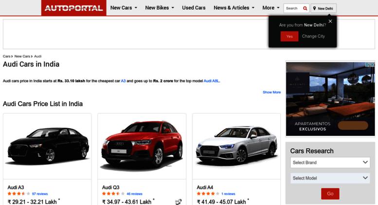 Access Audi Autoportal Com Audi Cars In India Prices Models