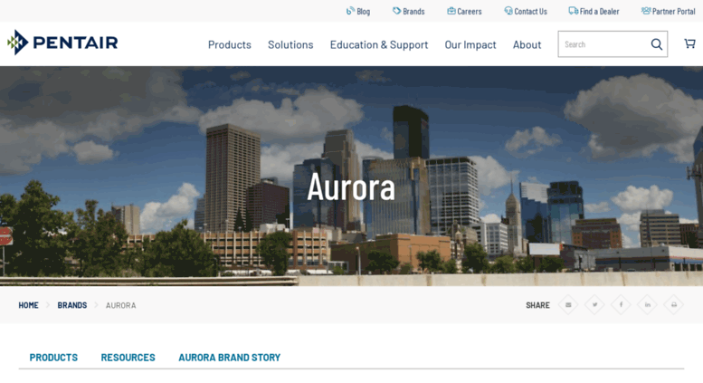 Access aurorapump com  Aurora | Pentair