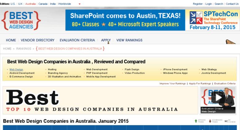 Access australia bestwebdesignagencies com  Rankings of Best Web