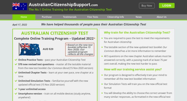 Australian Citizenship Test Book