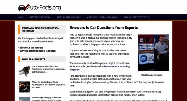 Auto Facts Org Screenshot