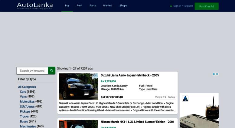 Access auto-lanka com  Buy & Sell - New & Used Cars in Sri