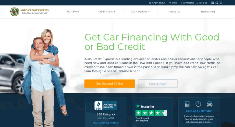 Auto Credit Express >> Access Autocreditexpress Com Bad Credit Auto Loans And Car