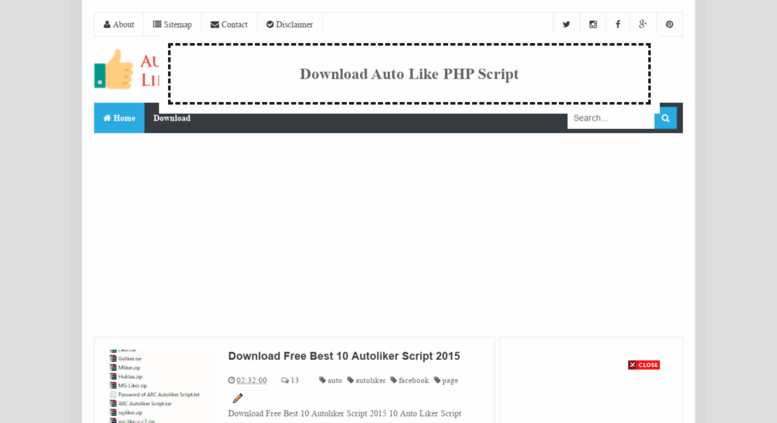 Access autolikerphp blogspot com  Download Auto Like PHP Script