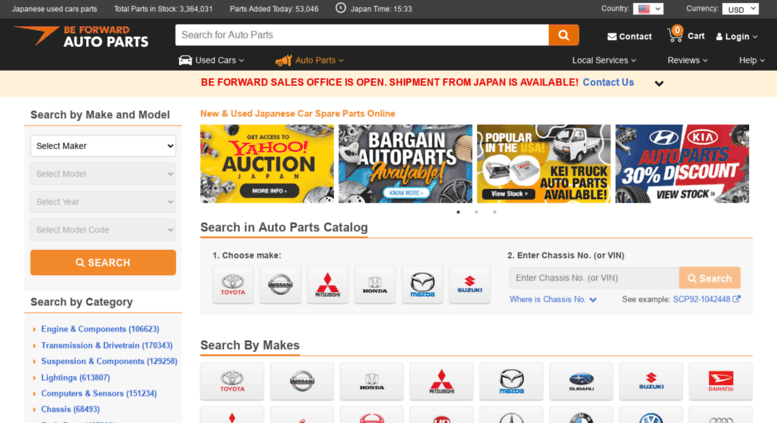 Access Autoparts Beforward Jp Used Japanese Car Spare Parts Online