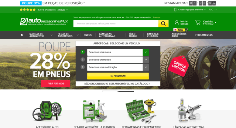 00ccf6703 Access autopecasonline24.pt. Loja online de autopeças  peças auto ...