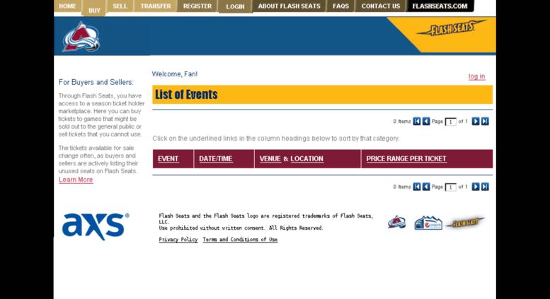 Avalanche Flashseats Com Flash Seats