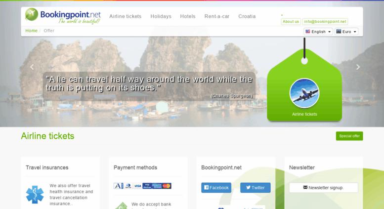 avionske karte Access avionske karte.bookingpoint.net. Avionske karte   posebna