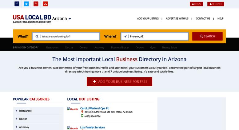 Access az usalocalbd com  ≡ USA Local Business Directory