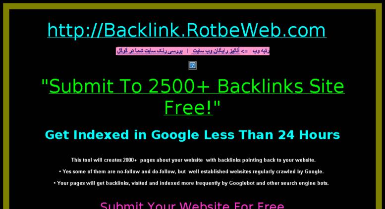 Access backlink rotbeweb com  Free Backlink -بک لینک رایگان