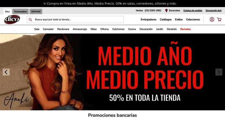 Access bajio.dico.com.mx. Muebles DICO