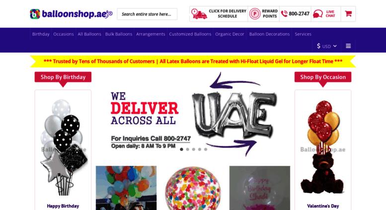 Access Balloonshopae Online Same Day Balloon Delivery In Dubai