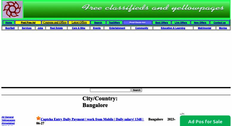 Access bangalore adrevu com  : Page 0: Free Classifieds
