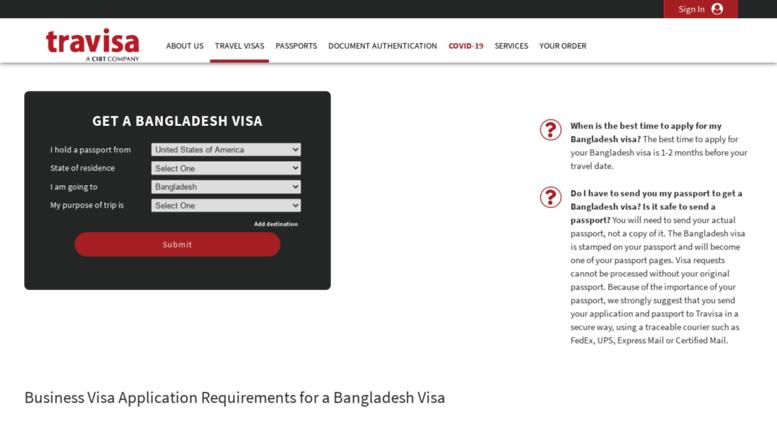 Access Bangladesh Travisa Com Bangladesh Visa Application Form Requirements And Instructions