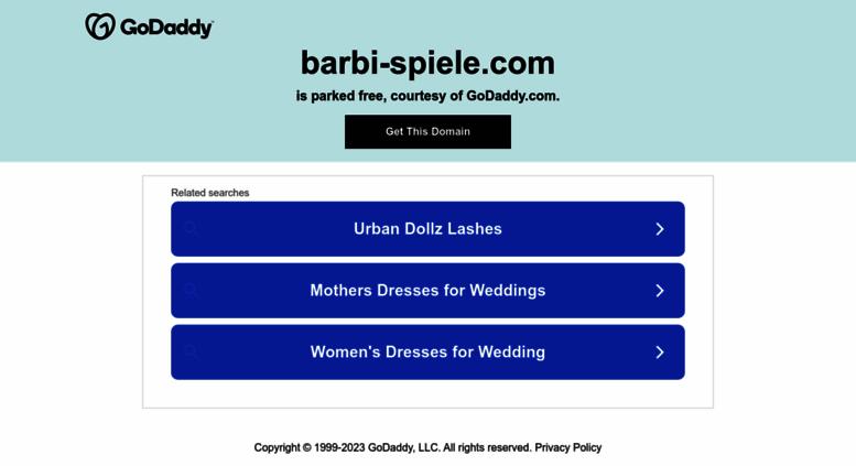 Access barbi-spiele.com. Barbie Spiele – Alle 160 Spiele mit dem Tag ...
