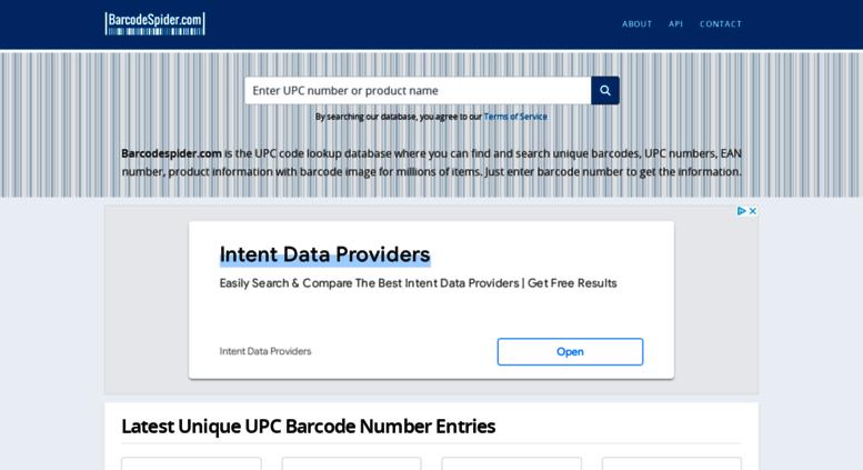 Access barcodespider com  UPC Code Lookup, EAN & ASIN | Barcode Spider