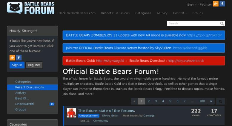 Access battlebears vanillaforums com  Official Battle Bears Forum!