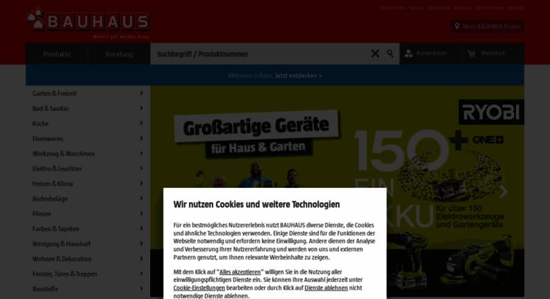 Access Bauhausat Der Bauhaus Online Shop Für Werkstatt Haus Und