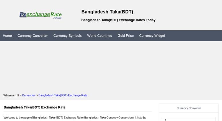 Bdt Fxexchangerate Screenshot