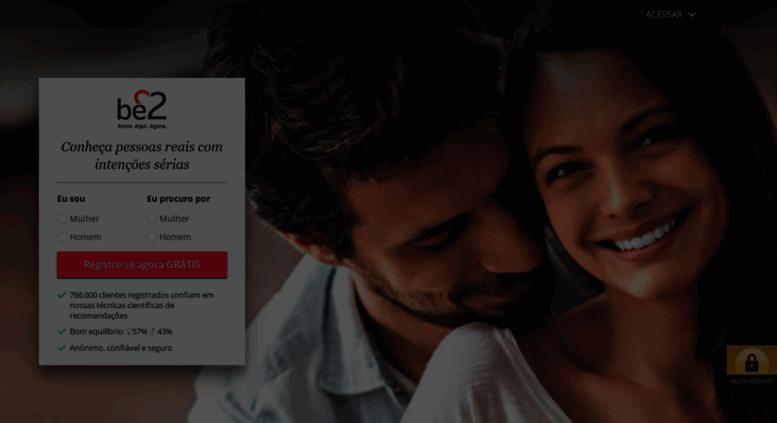 Experimente outro site de namoro do Brasil