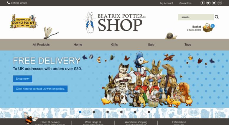 beatrix-potter-shop.co.uk screenshot