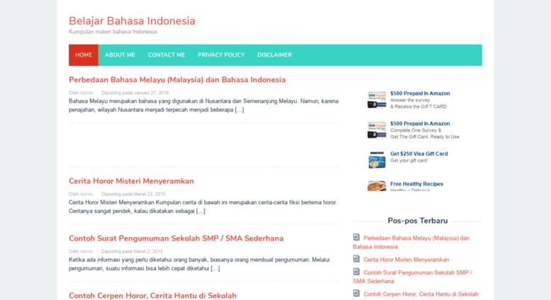 Access Belajarbahasaindonesia Com Belajar Bahasa Indonesia