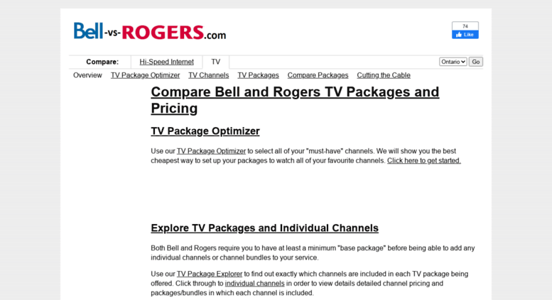 Access bell-vs-rogers com  BELL and Rogers TV Packages and Pricing