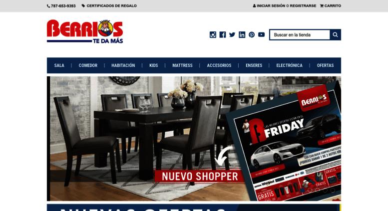 Access berriostedamas com  Tienda Online de Mueblerías Berríos
