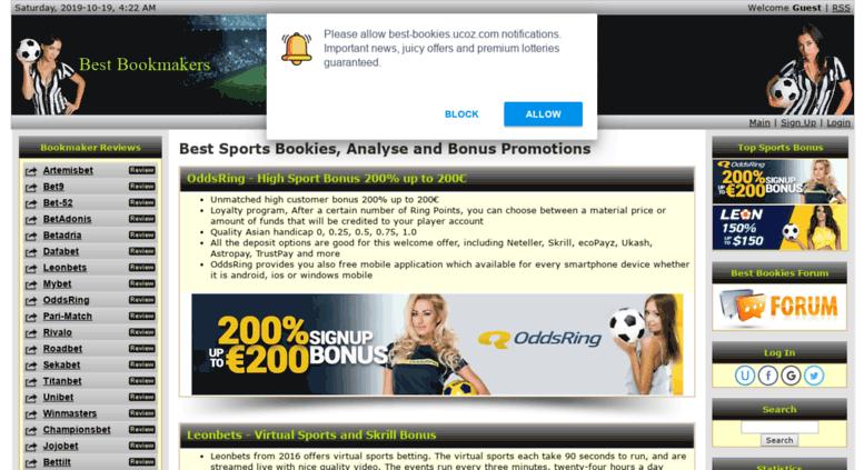 Access best-bookies ucoz com  Best Bookies - Professional Bookmakers