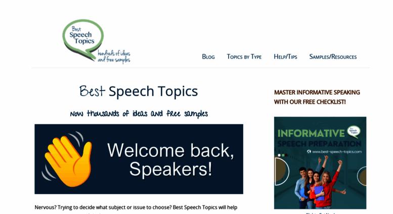 best public speech topics