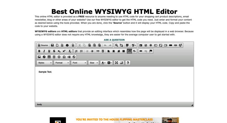 Access bestonlinehtmleditor com  BEST ONLINE HTML EDITOR