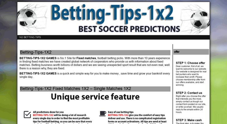 Access Betting-tips-1x2.com. Betting Tips 1X2