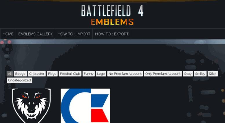 Access Bf4 Emblemscom All Battlefield 4 Emblems Bf4 Emblems