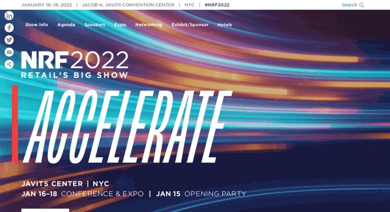 Big Show 2020.Access Bigshow14 Nrf Com Nrf 2020 Retail S Big Show Expo