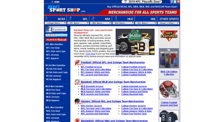 0134bf80118 Access bigsportshop.com. Big Sport Shop.com: buy NFL, NCAA, NHL, MLB ...