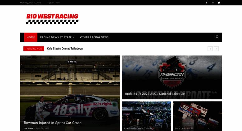 Access Bigwestracingcom Big West Racing Auto Racing News And