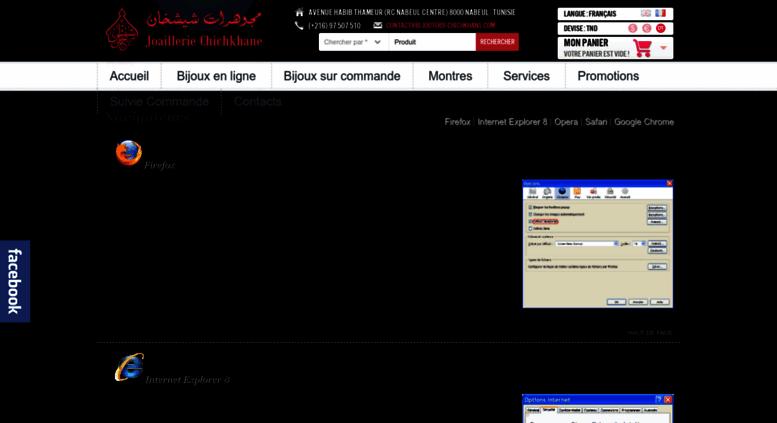 Access Bijouterie Chichkhane Com Vente Montres Bijoux Tunisie Chichkhane Bijouterie En Ligne