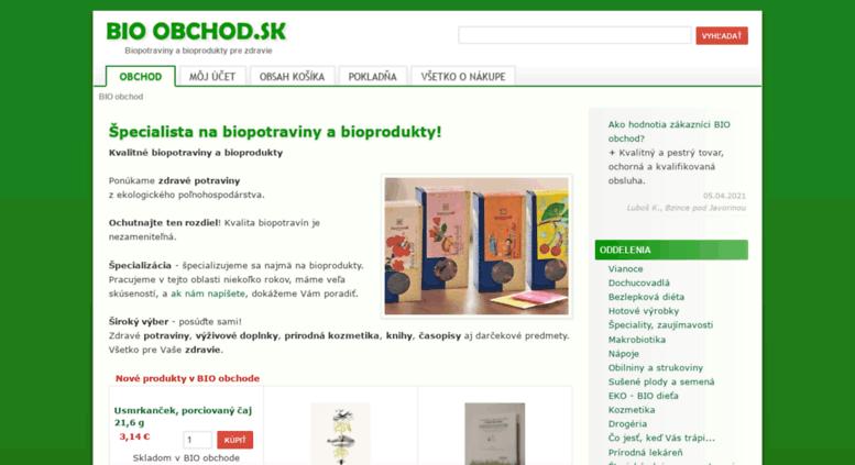 Access bio-obchod.sk. BIO obchod - biopotraviny 0ef53d1c157